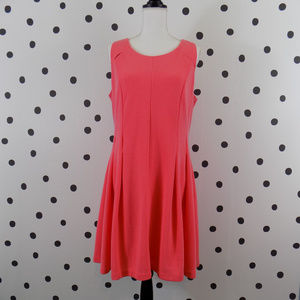 Elle Fit and Flare Coral Dress Open Back 16